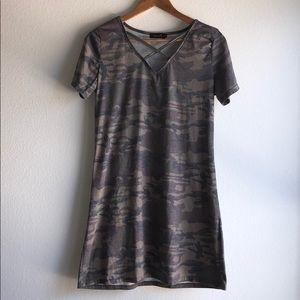 AMARYLLIS 100% Cotton CAMO Comfy Shift Dress
